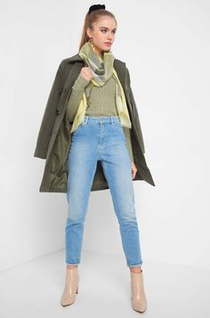 Karierter Schal Duster Coat, Highlights, Tops, Jackets, Style, Fashion, Plaid Scarf, Women's, Down Jackets
