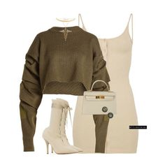 Cute outfit for a cool day.just not the shoes. Teen Fashion Outfits, Boujee Outfits, Classy Outfits, Pretty Outfits, Casual Outfits, Womens Fashion, Polyvore Outfits, Beautiful Outfits, Fashion Killa
