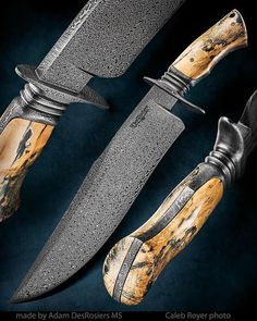Knife Pic of the Day: Adam Desrosiers made this beautiful bowie. If it doesn't stop you in your tracks, there's no helping you. http://www.blademag.com/?utm_content=buffer0d9c0&utm_medium=social&utm_source=pinterest.com&utm_campaign=buffer  #knifecollecting #knifecommunity #knifenut #customknives #bowie