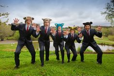 Bronwyn & Glenn. Bride & Groom, wedding, suit, groomsmen. Photography by Singing Bird photography.