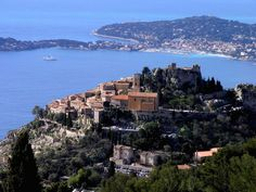 Eze, France - What a spectacular view of Cap Ferrat and Villefranche sur Mer. Splurge on lunch at Chateau Eza and don't miss the Jardin Exotique.