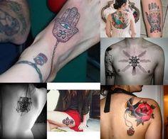 hamsa-tattoos-collage