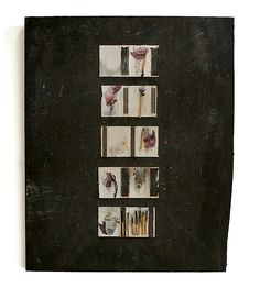 www. c-pom.de Matchbook Collage on board, handmade art by C.POM, Hommage to literature from Christian Andersen