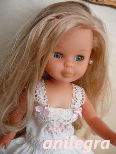 """Vestido bordado artesanal muñeca Nancy y similares 16 """""""
