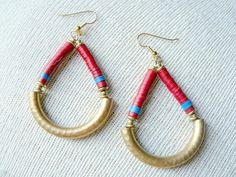 Loop de Loop Hoop Earrings in Burnt Siena #Earrings #HoopEarrings #EtsyEarrings #EtsyJewelry #Jewelry #HandmadeJewelry #UpcycledJewelry #EtsyGifts #GiftIdeas #StockingStuffer