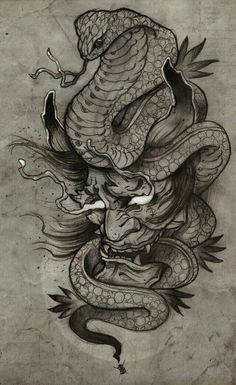 My Hannya Tattoo by Francisco Alvarado – Serpent tattoo Oni Tattoo, Irezumi Tattoos, Hannya Maske Tattoo, Hanya Tattoo, Tattoo Arm, Japanese Tattoo Art, Japanese Tattoo Designs, Japanese Sleeve Tattoos, Asian Tattoos