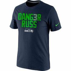 Nike Russell Wilson Seattle Seahawks Danger Russ Legend Performance T-Shirt #SB48