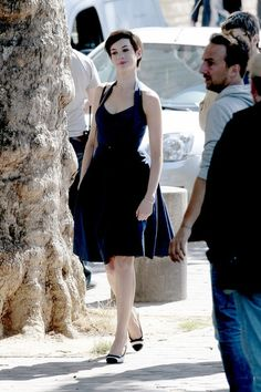 Charming seductress Anne Hathaway...  Trendy Fashion...   She came to prominence after playing Mia Thermopolis in the Disney film The Princess Diaries (2001) and in its 2004 sequel.