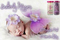 Butterfly kisses  1/2 Powder Puff  and 1/2 Garden Lilac The Scented Sprinkle Bar - an Independent Pink Zebra Consultant  #PinkZebra #scentedsprinklebar #atlzebradiva #homedecor #sprinkles #soycandles #homebasedbusiness #butterflies
