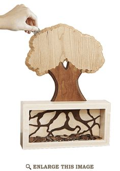"""Money Tree"" Coin Bank Woodworking Plan"