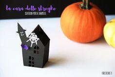 Porta caramelle Halloween: la casa delle streghe e altre cose strane! Commenta sul mio BLOG Farecreare Un semplice tutorial da stampare per fare il porta caramelle Halloween a forma di casa delle stre