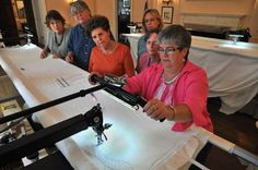 Locals learn about long-arm quilting machine