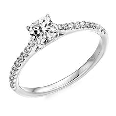 Berry's Claw Set & Cushion Cut Diamond Engagement Ring