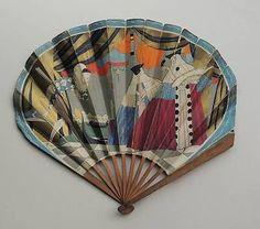 Art Deco hand fan  c1930