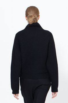 Haider Ackermann Wain Shawl Collar Sweater (Black)