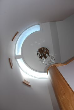 Long Commons, St Mawes, Cornwall helical staircase, wooden, bespoke, curved stairs.