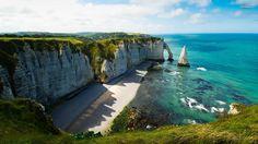 Beach Etretat France