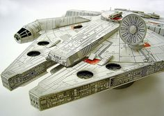 Falcon paper craft by The Official Star Wars, via Flickr