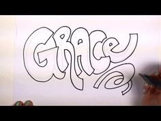 How to Draw Your Name Cool Letters - Grace in Graffiti Letters