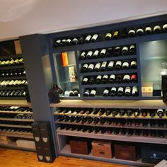 Solid oak & MDF-sprayed wine cellar. Kühn Houtwerke is situated in the Boland, Cape Winelands area. We specialize in kitchen cupboards, bedroom cupboards, solid woodworking, custom furniture and much more. For quotations please email us at khoutwerke@icon.co.za or visit our page and follow us on Pinterest. Bedroom Cupboards, Kitchen Cupboards, Wine Cellars, Bar Counter, Custom Furniture, Solid Oak, Wine Rack, Quotations, Cape