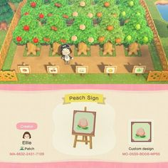 I was looking for cute orchard designs earlier and some of you guys sent me these! I love them so much so I wanted to share them with all… Animal Crossing 3ds, Animal Crossing Wild World, Animal Crossing Villagers, Animal Crossing Qr Codes Clothes, Animal Games, My Animal, Orchard Design, Ac New Leaf, Motifs Animal