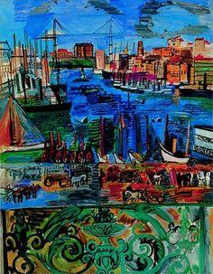 Raoul Dufy ~ Vue de Marseilles