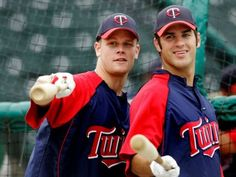 Joe Mauer & Justin Morneau .... this is my favorite picture of all time