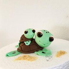 Fondant turtle, caketopper, gumpaste, Schildkröte, turtle, Baby, cake