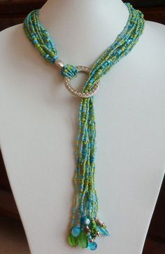 OCé Sharon fantasy necklace, cascade of glass beads and ring. - OCé Sharon Fantasy necklace, cascade of glass beads and ring. # cascade # lady - # out holzperlen Seed Bead Jewelry, Beaded Jewelry, Handmade Jewelry, Jewelry Necklaces, Handmade Necklaces, Seed Beads, Seed Bead Necklace, Bead Necklace Designs, Long Beaded Necklaces