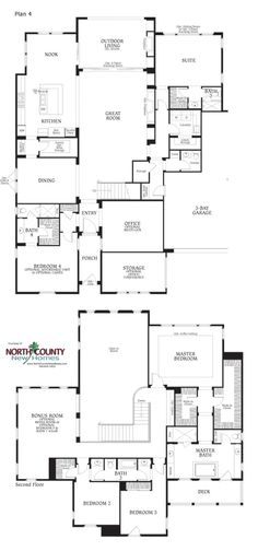 See floor plans for Southern Preserve in Carlsbad. Single family homes next to open space-preserve. Up to 6 bedrooms. New Construction homes in La Costa