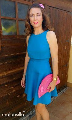Vestido azul soraya quedate