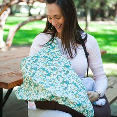 Nursing pillow with privacy cover attached!