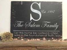 Name Sign Family Name Sign Wedding Gift Bridal Shower Gift Let This Home Be Rooted In Christ Scripture Sign Christian Wallhanging Religious