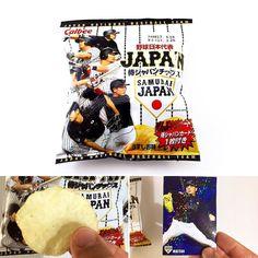Samurai Japan Chips . En este preciso momento que se celebra el World Baseball Classic nada mejor que seguirlo disfrutando de estas  patatas fritas con cartas de los Samurai Japan (la selección japonesa de béisbol). Saborea la emoción de descubrir qué carta te va a tocar! .  www.boxfromjapan.com .  #worldbaseballclassic #wbc2017 #boxfromjapan #bfjabril