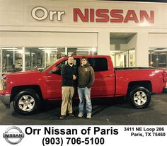 https://flic.kr/p/CgYNCK | Congratulations Justin on your #Chevrolet #Silverado 1500 from Nick Jones at Orr Nissan of Paris! | deliverymaxx.com/DealerReviews.aspx?DealerCode=J476