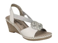 Remonte D6761 Ladies Wedge Heeled Slingback Sandal - Robin Elt Shoes  http://www.robineltshoes.co.uk/store/search/brand/Remonte/ #Spring #Summer #SS14 #2014 #Sandals