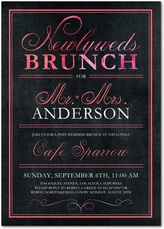 Our Favorite Day-After Wedding Brunch Invitations ...