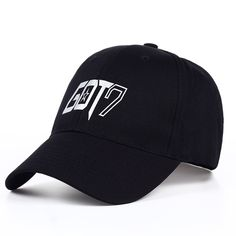 Men's Hats Youpop Kpop Got7 7for7 Album Team Logo Black Baseball Cap Hip-hop Cap Men Women Hats Attractive Fashion