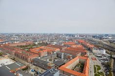 View over 'Vesterbro' from 'Bohrs Tårn' Paris Skyline, Travel, Voyage, Trips, Traveling, Destinations, Tourism