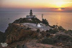 Wedding in Santorini- Lighthouse |View the full gallery here:http://tietheknotsantorini.com/wedding-in-santorini-patricia-and-fernando