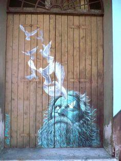 "trevni-street-art: ""not—banksy: "" Giovanni Pasini. Graffiti Art, Amazing Street Art, Amazing Art, Awesome, Banksy, Urbane Kunst, Street Painting, Art Graphique, Art And Illustration"