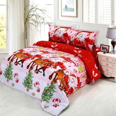 Christmas bedding collections - Nothing bits going all out this Xmas with these Christmas bedding comforters, duvets sets and kids Christmas bedding. #4Christmas