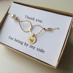 Cute idea for a bridesmaid gift | Bracelet