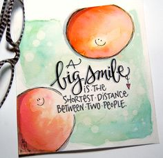 "inktober day twenty-one, prompt: ""big"". sending you a smile. Hand Lettering Quotes, Creative Lettering, Brush Lettering, Chalk Typography, Calligraphy Quotes Doodles, Watercolor Quote, Color Quotes, Drawing Quotes, Art Graphique"