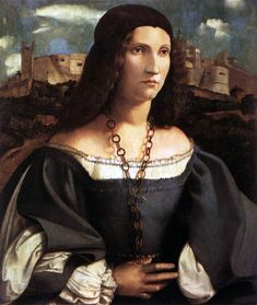 Portrait of Alda Gambara by Altobello Melone - Hand Painted Oil Painting