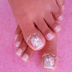 Summer Toe Nails, Pedicure Nails, Toe Nail Art, Nail Designs, Sticker, Polka Dot Nails, Summery Nails, Summer Toenails, Nail Desings