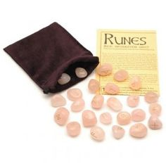 Rune stones are a divination method based on the ancient runic alphabet. The energy and meanings of runes aid intuitive skills. Rose Quartz Crystal, Clear Quartz, Healing Books, Runic Alphabet, Rune Stones, Rainbow Quartz, Chakra Crystals, Crystal Sphere, When You Love