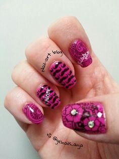 IBD RetroRosette nail art Nail Art 2014, Gel Polish, Nails, Beauty, Finger Nails, Ongles, Gel Nail Varnish, Beauty Illustration, Nail