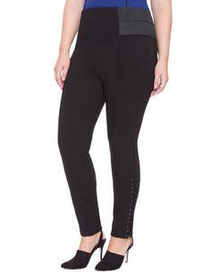 lauren ralph lauren stretch pants (plus size) available at