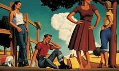 Kenton Nelson / Figurative / After the Blue Sirocco